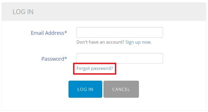 forgot password help center
